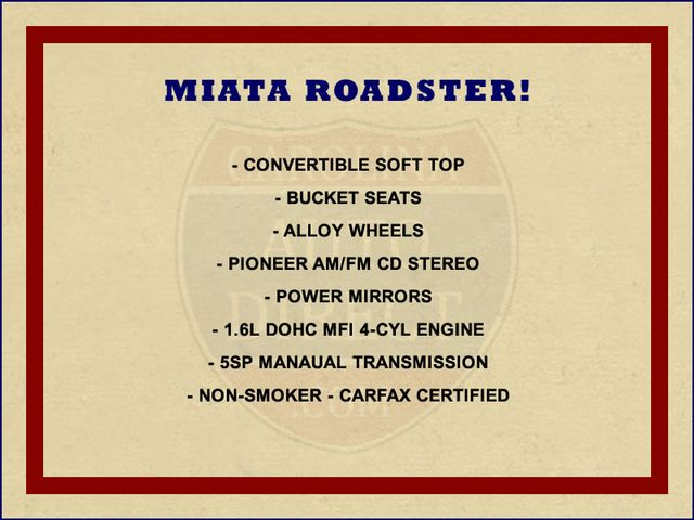 1993 Mazda MX-5 Miata Roadster - 5SP MANUAL! Mooresville , NC 1