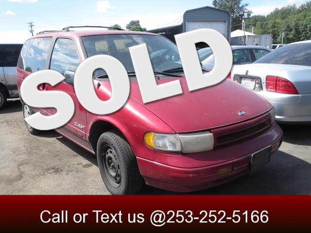 1995 Nissan Quest XE The CARFAX Buy Back Guarantee that comes with this vehicle means that you can
