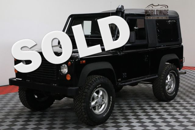 1997 Land Rover DEFENDER 90 RARE NAS AUTOMATIC CONVERTIBLE! BELUGA BLACK | Denver, Colorado | Worldwide Vintage Autos
