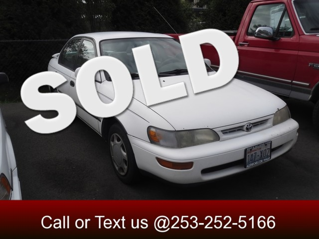 1997 Toyota Corolla DX The CARFAX Buy Back Guarantee that comes with this vehicle means that you c