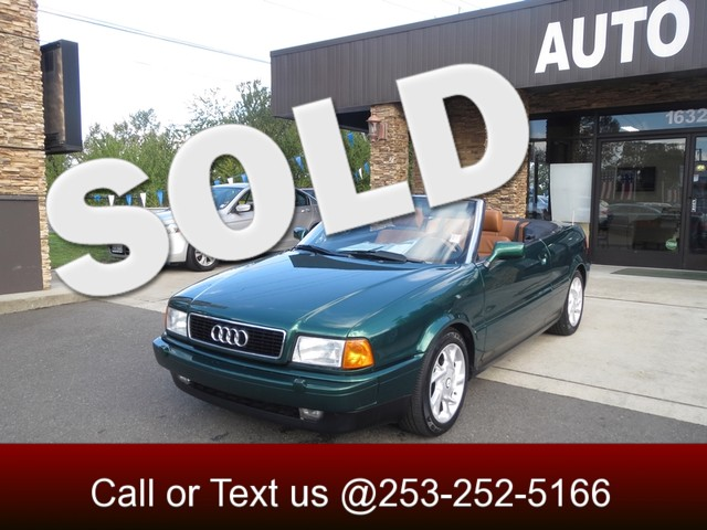 1998 Audi Cabriolet The CARFAX Buy Back Guarantee that comes with this vehicle means that you can