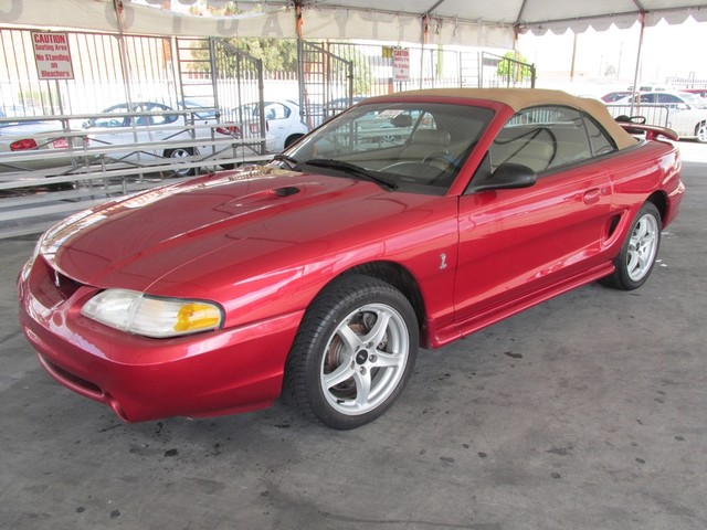 1998 Ford Mustang SVT Cobra Please call or e-mail to check availability All of our vehicles are