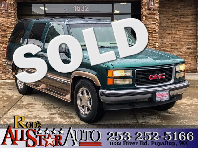 1998 GMC Yukon 4WD The CARFAX Buy Back Guarantee that comes with this vehicle means that you can b