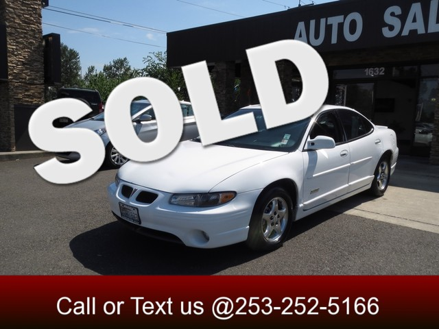 1998 Pontiac Grand Prix GT The CARFAX Buy Back Guarantee that comes with this vehicle means that y