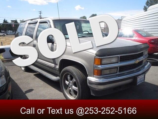 1999 Chevrolet Tahoe Z71 4WD The CARFAX Buy Back Guarantee that comes with this vehicle means that