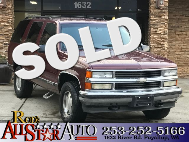1999 Chevrolet Tahoe 4WD The CARFAX Buy Back Guarantee that comes with this vehicle means that you