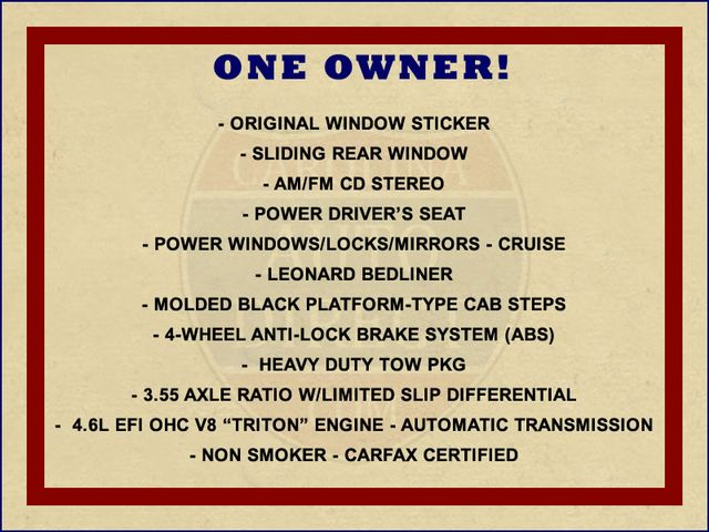 1999 Ford F-150 XLT SuperCab RWD - 1 OWNER - WINDOW STICKER! Mooresville , NC 1