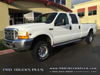 F350 Powerstroke 7.3 Diesel Crew Cab 4x4 Ford 1999 XLT Long Bed 6-Passenger @104k miles BANKS!  in Livermore California