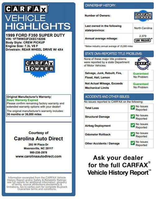 1999 Ford Super Duty F-350 DRW Lariat Crew Cab 4x4 Off Road - 7.3L DIESEL! Mooresville , NC 3