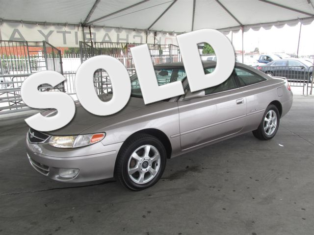 1999 Toyota Camry Solara SE This particular vehicle has a SALVAGE title Please call or email to c