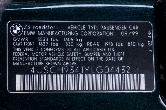 2000 BMW Z3 2.5L PREMIUM PKG - AUTO - 45K MILES - HTD STS - PWR TOP Reseda, CA 42