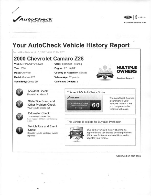 2000 Chevrolet Camaro Z28 SS  Grayslake IL  Executive Motor Carz  in Grayslake, IL