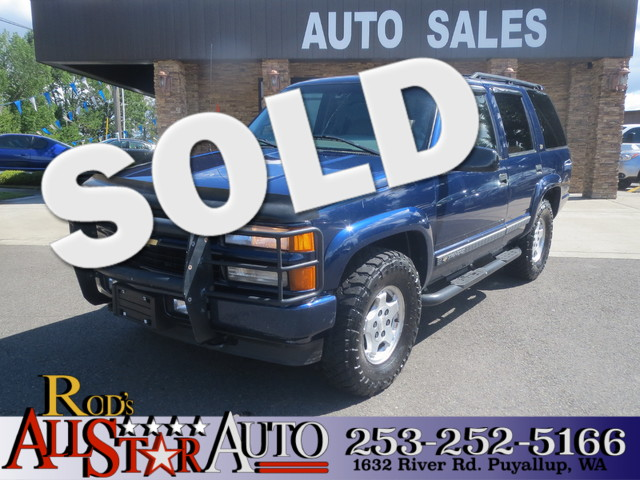 2000 Chevrolet Tahoe Z71 4WD The CARFAX Buy Back Guarantee that comes with this vehicle means that