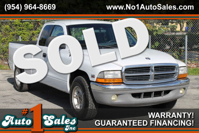 2000 Dodge Dakota SLT  WARRANTY AUTOCHECK CERTIFIED 3 OWNERS FLORIDA VEHICLE TRADES WELCOME