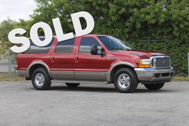 2000 Ford Excursion Limited  WARRANTY CARFAX CERTIFIED V10 ENGINE 3RD ROW SEAT FLORIDA VEHI