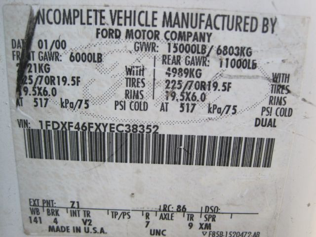 2000 Ford Super Duty F450 Bucket Truck, 7.3 Turbo Diesel, Plano, Texas 30