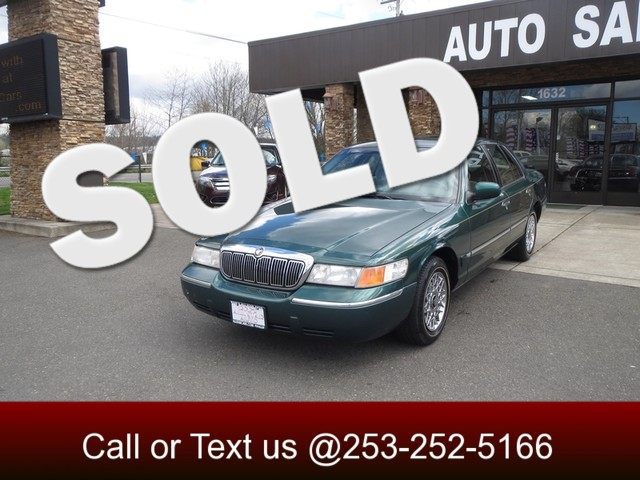 2000 Mercury Grand Marquis GS The CARFAX Buy Back Guarantee that comes with this vehicle means tha