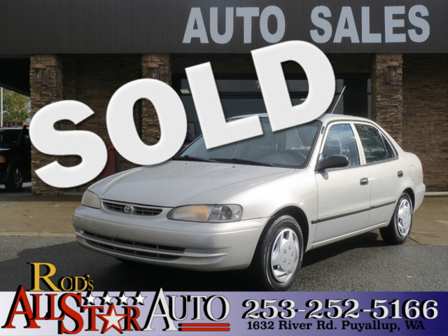 2000 Toyota Corolla CE The CARFAX Buy Back Guarantee that comes with this vehicle means that you c