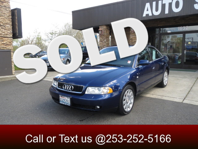 2001 Audi A4 AWD The CARFAX Buy Back Guarantee that comes with this vehicle means that you can buy
