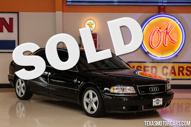 2001 Audi A8 L 42 Quattro 2001 Audi A8  Black Ext  Gray Leather Int with wood trim 42L V8