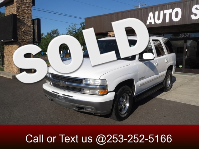 2001 Chevrolet Tahoe LT 4WD The CARFAX Buy Back Guarantee that comes with this vehicle means that