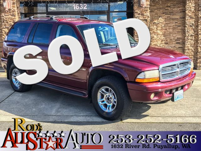 2001 Dodge Durango SLT 4WD The CARFAX Buy Back Guarantee that comes with this vehicle means that y
