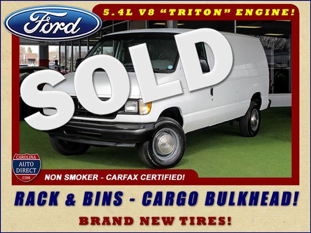 2001 Ford Econoline Cargo Van E350 RWD - RACKS & BINS - NEW TIRES! Mooresville , NC 0