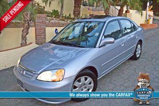 2001 Honda CIVIC EX 4 DOORS SEDAN AUTOMATIC SUNROOF ONLY 51K ORIGINAL MLS 4 NEW TIRES Woodland Hills, CA