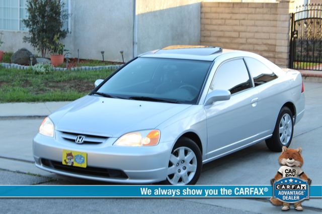 2001 Honda CIVIC EX COUPE 82K MLS AUTO SUNROOF SERVICE RECORDS NEW BRAKES Woodland Hills, CA 0