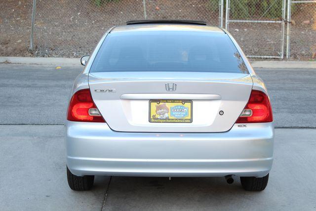 2001 Honda CIVIC EX COUPE 82K MLS AUTO SUNROOF SERVICE RECORDS NEW BRAKES Woodland Hills, CA 4