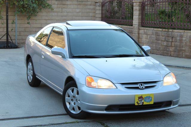 2001 Honda CIVIC EX COUPE 82K MLS AUTO SUNROOF SERVICE RECORDS NEW BRAKES Woodland Hills, CA 8