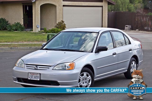 2001 Honda CIVIC LX 4 DOORS SEDAN MANUAL 1-OWNER SERVICE RECORDS AVAILABLE Woodland Hills, CA 0