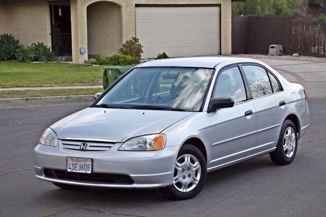 2001 Honda CIVIC LX 4 DOORS SEDAN MANUAL 1-OWNER SERVICE RECORDS AVAILABLE Woodland Hills, CA 1
