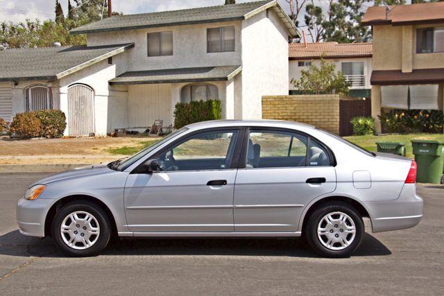 2001 Honda CIVIC LX 4 DOORS SEDAN MANUAL 1-OWNER SERVICE RECORDS AVAILABLE Woodland Hills, CA 2