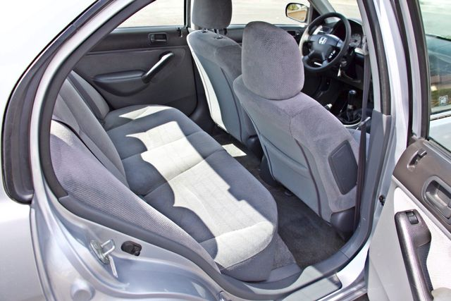 2001 Honda CIVIC LX 4 DOORS SEDAN MANUAL 1-OWNER SERVICE RECORDS AVAILABLE Woodland Hills, CA 21