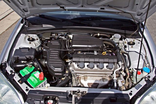 2001 Honda CIVIC LX 4 DOORS SEDAN MANUAL 1-OWNER SERVICE RECORDS AVAILABLE Woodland Hills, CA 23