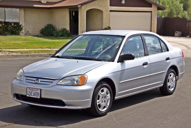 2001 Honda CIVIC LX 4 DOORS SEDAN MANUAL 1-OWNER SERVICE RECORDS AVAILABLE Woodland Hills, CA 9