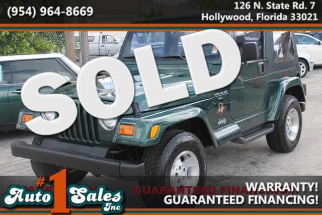 2001 Jeep Wrangler Sahara  WARRANTY 16 SERVICE RECORDS DOCUMENTED FLORIDA VEHICLE  This 20