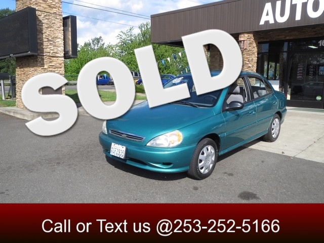 2001 Kia Rio The CARFAX Buy Back Guarantee that comes with this vehicle means that you can buy wit
