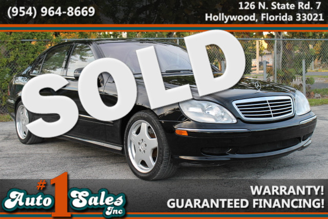 2001 Mercedes S500  WARRANTY CARFAX CERTIFIED AUTOCHECK CERTIFIED 1 OWNER 28 SERVICE RECORD