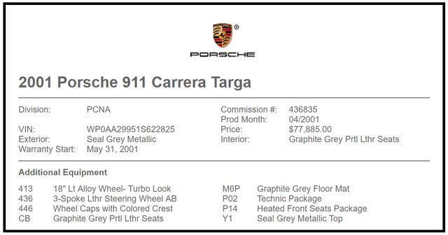 2001 Porsche 911 Carrera Targa AWD Mooresville , NC 5