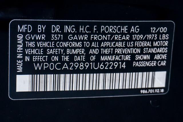 2001 Porsche Boxster  AUTO - LTHR - 95K MILES - 1-OWNER Reseda, CA 35