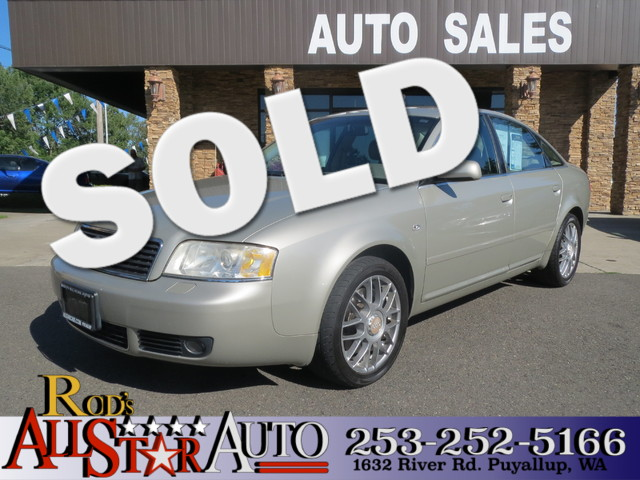 2002 Audi A6 AWD The CARFAX Buy Back Guarantee that comes with this vehicle means that you can buy