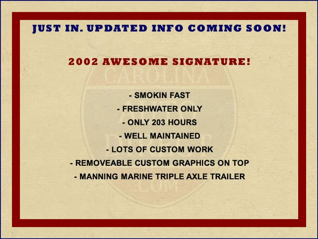 2002 Awesome SIGNATURE - ONLY 203 HOURS! EXTRA$! Mooresville , NC 1