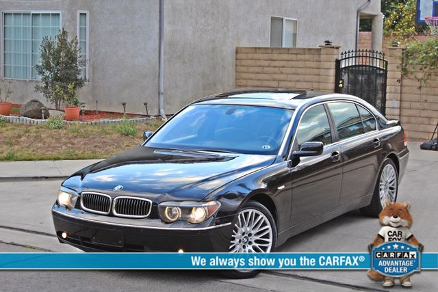 "2002 BMW 745Li SPORTS PKG AUTOMATIC NAVIGATION BLACK ON BLACK 19"" ALLOY WHLS SERVICE RECORDS! Woodland Hills, CA 0"