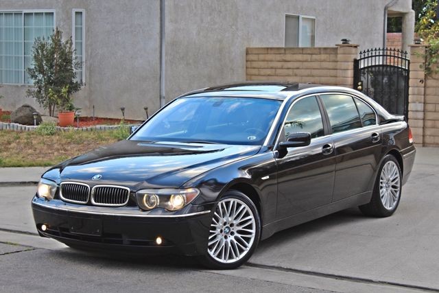 "2002 BMW 745Li SPORTS PKG AUTOMATIC NAVIGATION BLACK ON BLACK 19"" ALLOY WHLS SERVICE RECORDS! Woodland Hills, CA 1"