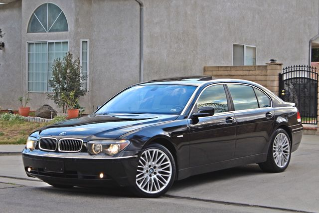 "2002 BMW 745Li SPORTS PKG AUTOMATIC NAVIGATION BLACK ON BLACK 19"" ALLOY WHLS SERVICE RECORDS! Woodland Hills, CA 2"