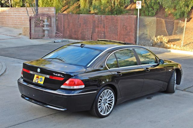 "2002 BMW 745Li SPORTS PKG AUTOMATIC NAVIGATION BLACK ON BLACK 19"" ALLOY WHLS SERVICE RECORDS! Woodland Hills, CA 8"