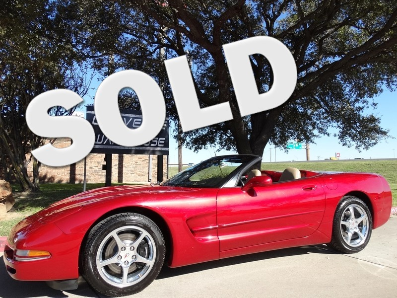 2002 Chevrolet Corvette Convertible 1SB Pkg, Auto, Polished Wheels 43k!