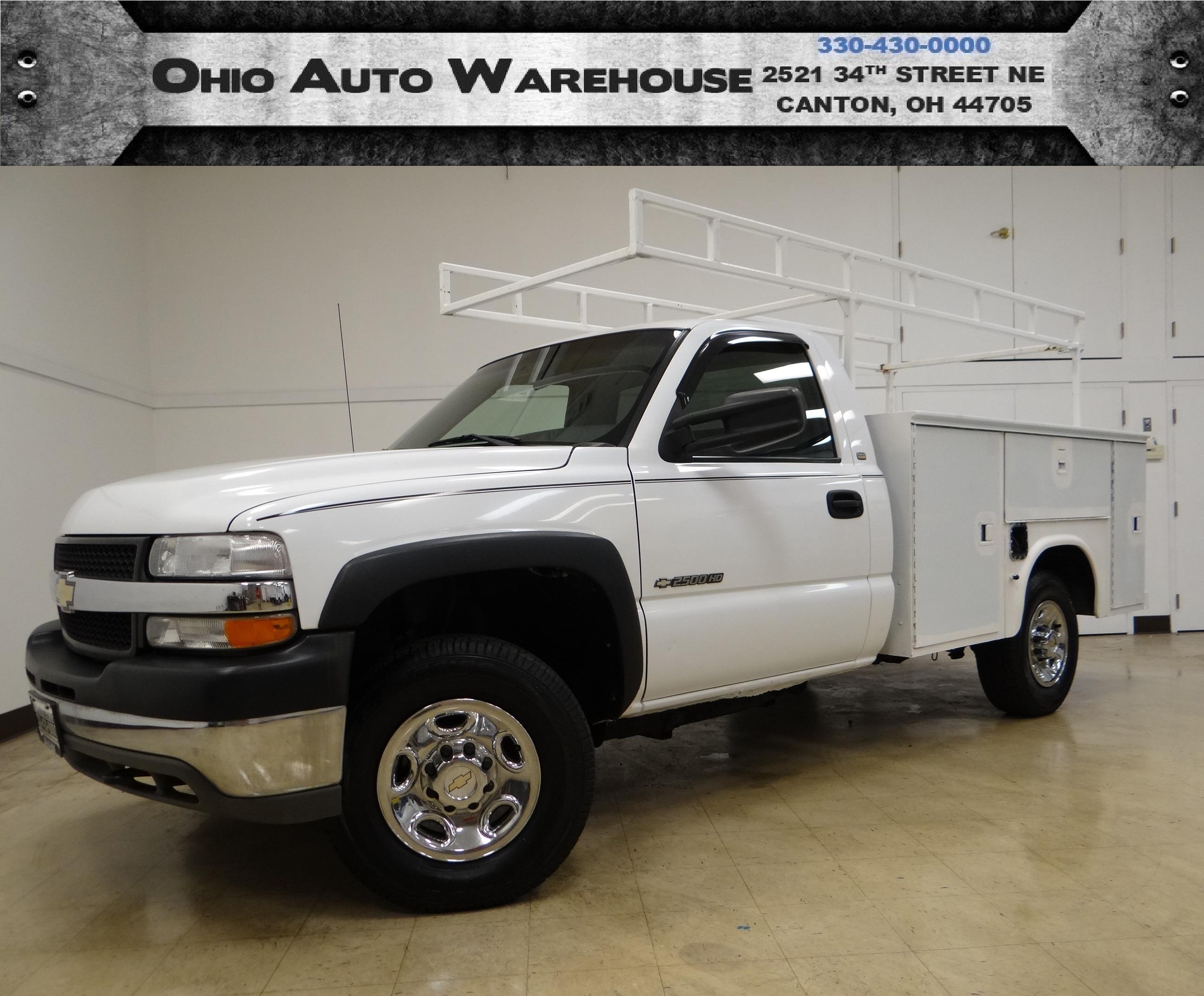 2002 Chevrolet Silverado 2500HD 4x4 8.1L V8 Utility Bed Cln Carfax We Finance in Canton Ohio